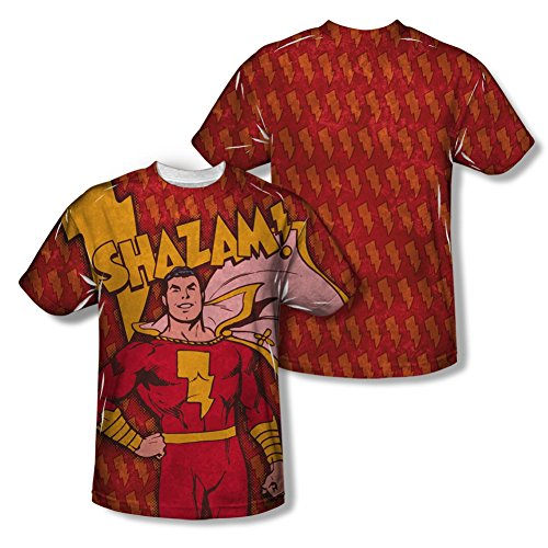 Shazam Bolts All Over Front/Back T-Shirt