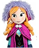"Frozen Anna 50cm (20"") LARGE Soft Plush Doll With Long Purple Cape and Embroidery Detail"