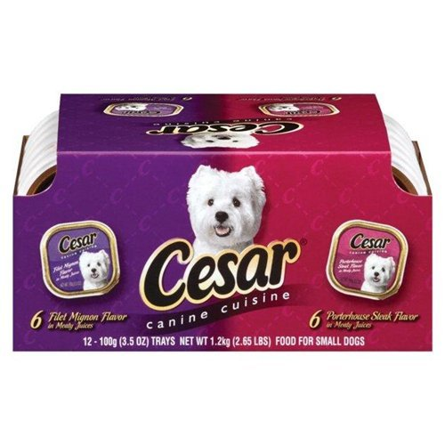 Cesar Filet Mignon Porterhouse Flavor Dog Food 42 OZ