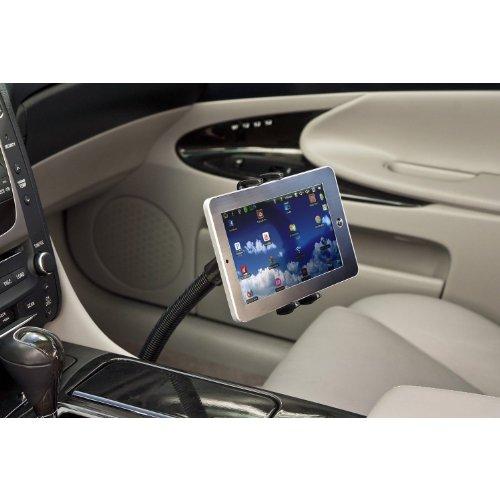 High Grade Adjustable Seat Bolt Car Mount Vehicle Handsfree Holder for Google Nexus 7 / Galaxy Tab 2, 3, 4, 5 / Asus Memopad / Verizon Ellipsis / iPad Mini and All 7-8 Inch Tablets w/ Robust Vibration Free Cradle