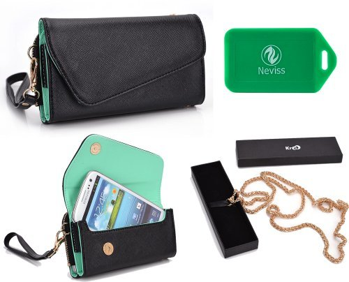 All In One Wristlet Phone Holder- Mint Green- Universal Fit For Sharp Aquos Mini SHL24