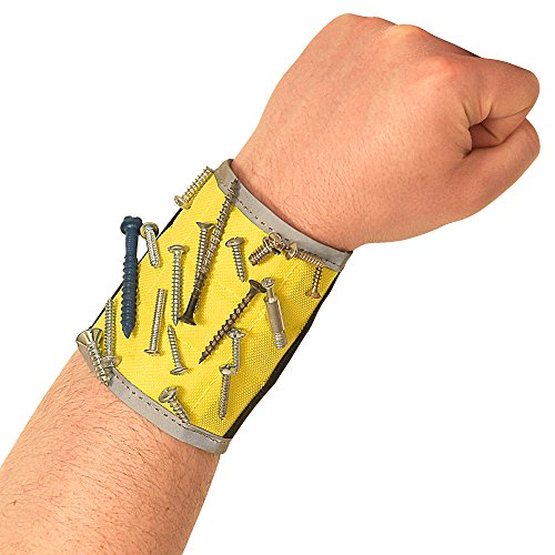 BYKES Best Magnetic Wristband for Holding Tools Screws Nails Bolts Screwdriver & Drilling Bits Great For Your Tool Bag, Tool Box. Perfect Handyman Gear for DIY Do It Yourself Auto Repair Home Projects