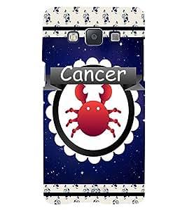 Fuson 3D Printed Sunsign Cancer Designer back case cover for Samsung Galaxy E5 - D4423