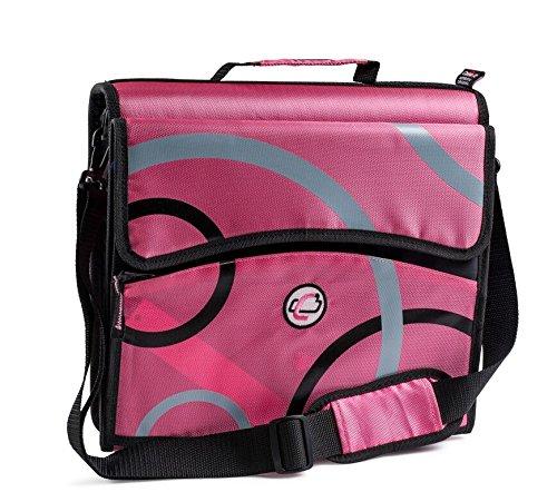 """Case It 3-ring 2"""" Zipper Binder (Pink) Office Supplies"""