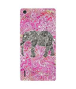 Black Elephant Huawei Ascend P7 Case