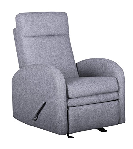 Shermag Recliner Glider with Foot Rest, Charcoal