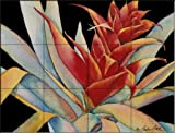 Bromeliad I by Linda Lord Tile Mural for Kitchen Backsplash Bathroom Wall Tile Mural