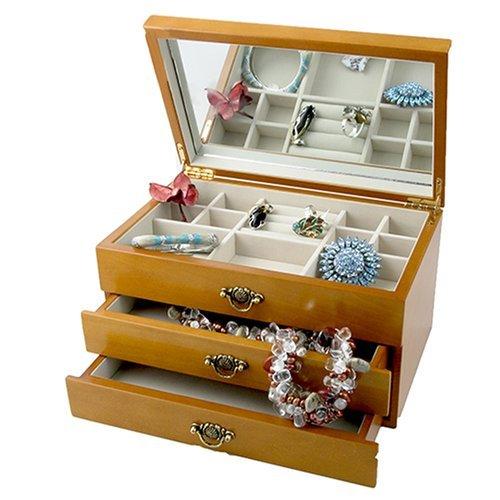 Wooden Jewellery Box - Oriental Rose, Meagan