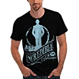 Wellcoda Incredible Mr Awesome Man Mens NEW Walking Away Silhouette Towards City Light The Circle Of Life Sublime T-Shirt Black S-5XL