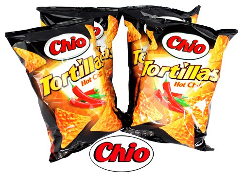 Chio Tortilla Chips Hot Chili 4Pack | Dipworld Edition