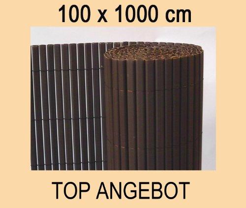 Balkon-Sichtschutz PVC braun 10m