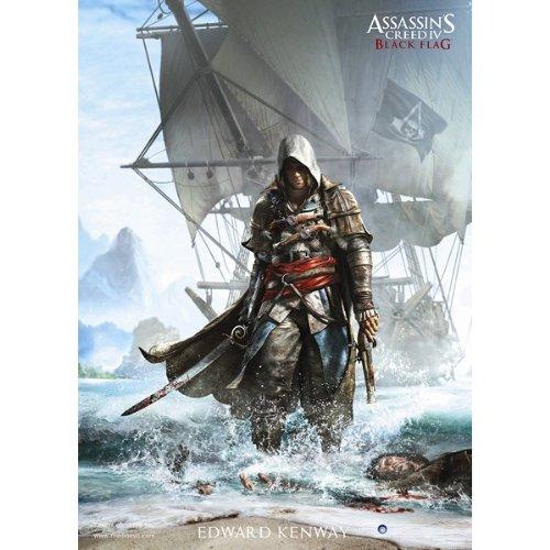 Assassin's Creed IV 4 Black Flag Edward Kenway Ship Poster 70x100