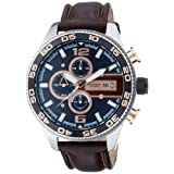 Fossil CH2559 Gents Brown Leather Strap Chrongraph Watchby Fossil