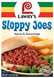 Lawry\'s Sloppy Joes Spices and Seasonings 1.5oz Packet (Pack of 12)