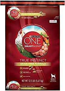 Purina ONE SmartBlend Dry Dog Food, True Instinct, Grain Fee Formula with Chicken & Sweet Potato, 12.5-Pound Bag, Pack of 1