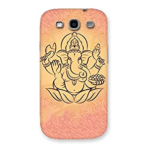 Enticing Jai Ganesha Print Back Case Cover for Galaxy S3