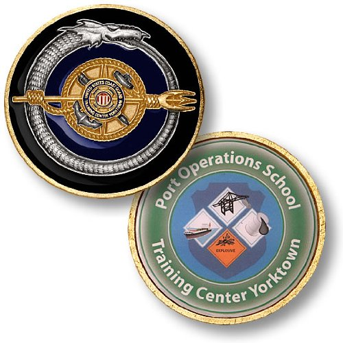 USCG Port Operations School - Training Center Yorktown Challenge Coin