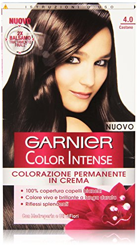 Garnier Garnier Color Intense Colorazione Permanente in Crema, 4.0 Castano