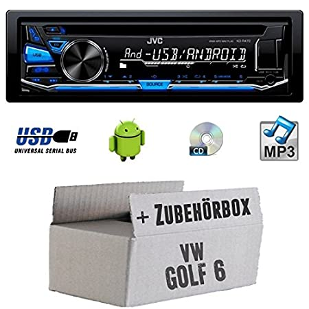 VW Golf 6 VI - JVC KD r472e - Kit de montage autoradio CD/MP3/USB -