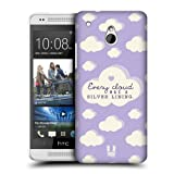 Head Case Designs Silver Lining Light Purple Cloud Patterns Protective Snap-on Hard Back Case Cover for HTC One mini