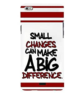 printtech Change Quote Back Case Cover for Micromax Canvas Sliver 5 Q450::Micromax Canvas Silver 5