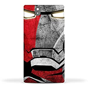 FUNKYLICIOUS Sony Xperia Z Back Cover Iron Man Design (Multicolour)