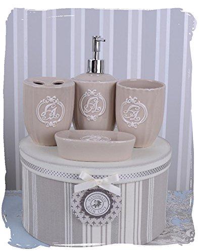 Seifenspender Set badezimmer set bad garnitur vintage porzellan seifenspender becher