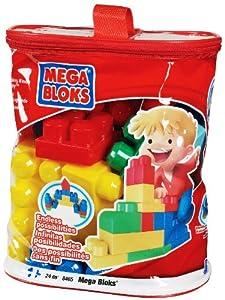 Méga Bloks - 8465 - Jeu de construction - Brique - Sac Building Imagination Couleurs Primaires - 24 pièces