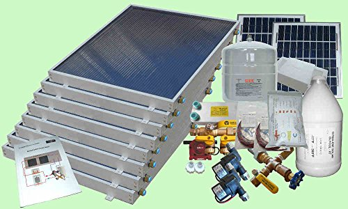 Complete 8 Panel Gh Type Freeze Protected Hybrid Solar Water Heater Kit