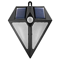 Solar Motion Sensor Light, Arespark Bright Outdoor 6 LEDs Solar Light, Waterproof Wireless Security Wall Light / Auto On/Off-No Tools Required