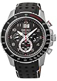 Seiko sportura SPC139 44.5mm Ion Plated Stainless Steel Case Black Calfskin Hardlex (used for Seiko only) Men's Watch thumbnail