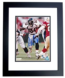 Terrell Davis Autographed Hand Signed Denver Broncos 8x10 Photo - BLACK CUSTOM FRAME... by Real Deal Memorabilia