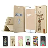 iPhone 6 Plus Case, ESR Illustrators Series Protective Case Wallet [Multi-Stand View Angles] Flip Cover Folio Case for 5.5 inches iPhone 6 Plus (Tycoon Giraffe)