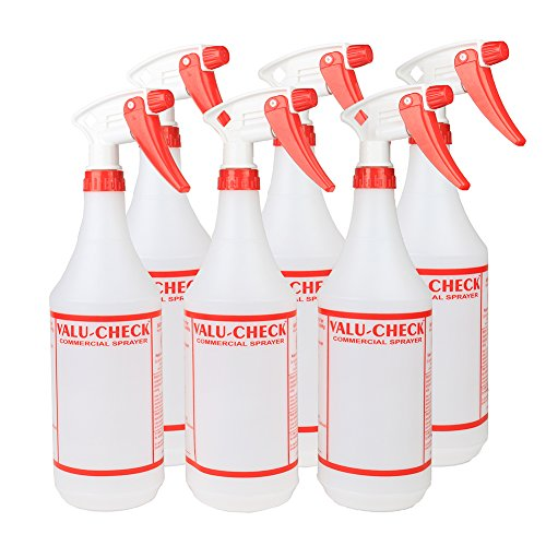 32 Oz Durable Commercial Empty Spray Bottles Perfect for Commercial And Home Use Such As Cleaning, Gardening, Beauty And More - Pack of 6 (Spray Bottle 32 Oz compare prices)