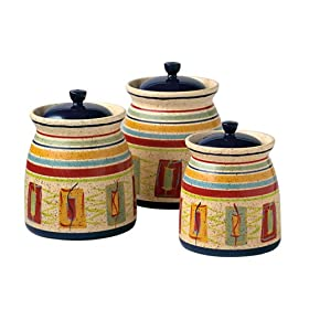 Pfaltzgraff Sedona Three-Piece Sealed Canister Set