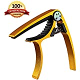 Acoustic Guitar Capo- Musicians Recommended Capo for Acoustic, Electric or Classical Guitar- Perfect for Banjo and Ukulele- Lightweight Aluminum Comparable to Jim Dunlop, Bill Russell, Kyser or Shubb- No More Fret Buzz- The Last Capo You'll Ever Buy