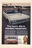 1970 Dodge Monaco Luxury Ride is Standard Equipment Airplane Print Ad (Memorabilia) (57051)