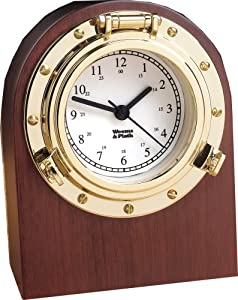 Weems & Plath Porthole Collection Desk Clock from Weems & Plath
