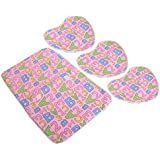 Kuber Industries™ Baby Waterproof Sheets Plastic & Cotton Foam Cushioned Sleeping Mat With 3 Changing Mat(Pink) - KUB411