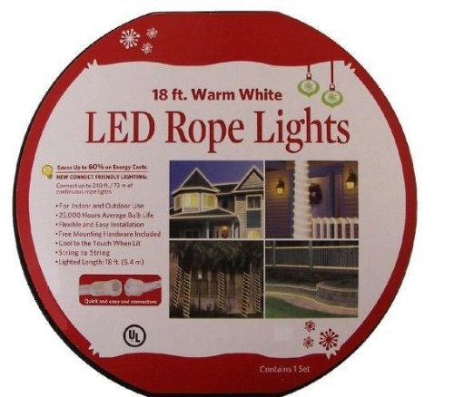 18 feet warm white led rope lights by everstar merchandise 18 feet warm white led rope lights aloadofball Images