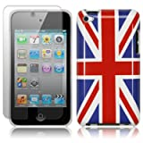 APPLE IPOD TOUCH 4TH GEN UNION JACK GLOSSY BACK COVER CASE / SKIN / SHELL WITH SCREEN PROTECTOR PART OF THE QUBITS ACCESSORIES RANGEby Qubits
