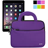 Evecase iPad Air 2 Case Bag, UltraPortable Handle Carrying Portfolio Neoprene Sleeve Case Bag for Apple iPad Air 2 (iPad 6) / iPad Air (iPad 5), iPad 4, iPad 3, and iPad 2 - Purple