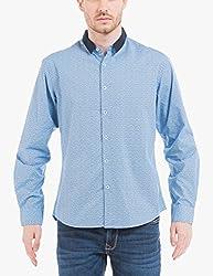Shuffle Men's Casual Shirt (8907423018679_2021514401_X-Large_Blue)