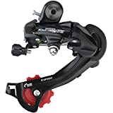 Shimano Tourney TZ500 6/7-Speed Long Cage Rear Derailleur Direct-Attach (Color: Red)