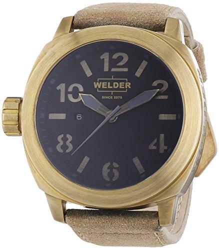 Welder Men's Quartz Watch 9100 K51 9100 with Leather Strap