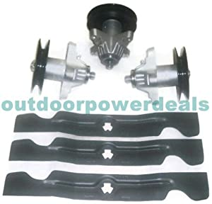 """MTD Cub Cadet Spindle 618-04126 / 918-04126A (Set of 3 & 50"""" Blades) by Stens"""