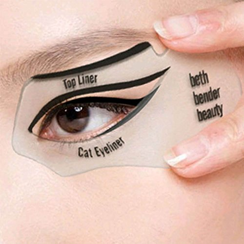 2pcs Carte de Eye-liner Carte Eyeliner Pochoirs Pour Perfect Eyes Cat eyeliner et Smokey Outil de maquillage