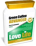 LOVE LIFE Green Coffee Advanced (An Advanced Combination of Green Coffee Bean Extract, Cocoa, Guarana, Matcha Green Tea, Vitamin C, Cayenne Powder, Acai, Grape Seed Extract, Tomato, Goji Berry, Pomegranate Seed, Zinc, Wheat Grass Sprout, Alfalfa Leaf Gra