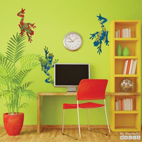 my-wonderful-walls-giant-tree-frog-stickers-decals-green-red-blue-set-of-3