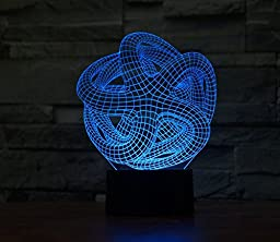 Starfish Hologram LED Night Light Lamp - Color Changing